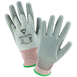 West Chester HPPE Gray PU Palm Cut Resistant Gloves