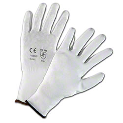 West Chester White PU Palm Coated Nylon Gloves