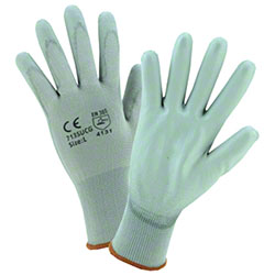 West Chester Gray PU Palm Coated Nylon Gloves
