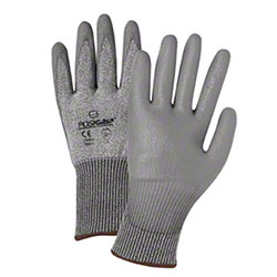 West Chester Gray PU Coated Palm Cut Resistant Gloves