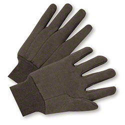West Chester Standard 100% Cotton Brown Jersey Glove - Large