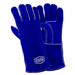 "West Chester Select Cowhide 14"" Blue Stick Welding Glove -LG"