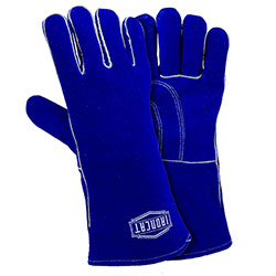 "West Chester Premium Cowhide 14"" Blue Welding Glove - Large"