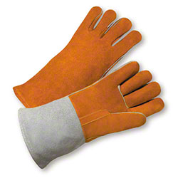 West Chester Brown/Grey Side Split Leather Welders Glove