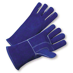 West Chester Blue Side Split Cowhide Welders Glove - Large