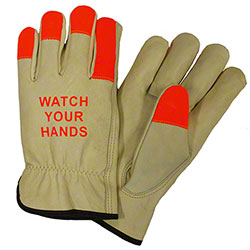 West Chester Select Grain Hi-Vis Fingertips Cowhide Driver
