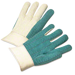 West Chester Green Cotton Hotmill Glove - Large