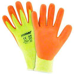 West Chester Hi-Vis Yellow HPPE Foam Nitrile Palm Gloves