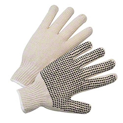 West Chester Cotton/Polyester Knit PVC Dots One Side