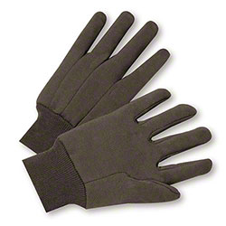 West Chester Brown Cotton Jersey Glove - Large