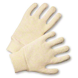 West Chester Natural Cotton Jersey Glove - Large