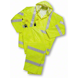 West Chester Hi Vis Lime Green Class 3 Rain Jackets