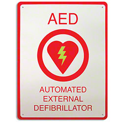 "Zoll® AED Plus® 8 1/2"" x 11"" Wall Sign"