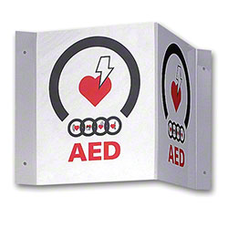 Zoll® AED Plus 3-D Wall Sign