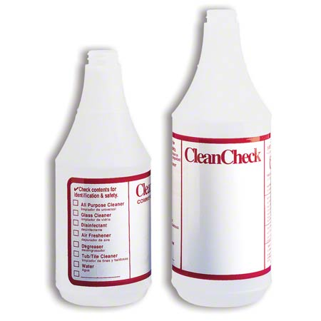 Tolco® CleanCheck® Empty Bottle - 32 oz., Red/White