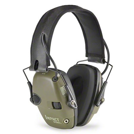 Impact Sport Sound Amplification Folding Earmuff