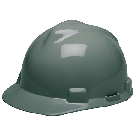MSA V-Gard® Slotted Cap - Standard, Black, Staz-On