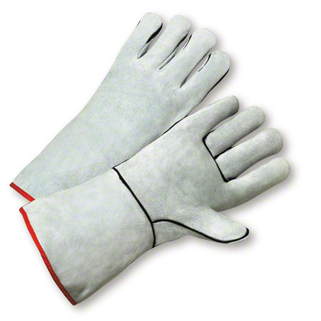 West Chester Grey Split Cowhide Leather Welders Glove -Large