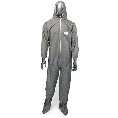 West Chester Posi M3 Gray Coverall w/Hood & Boot - 2X