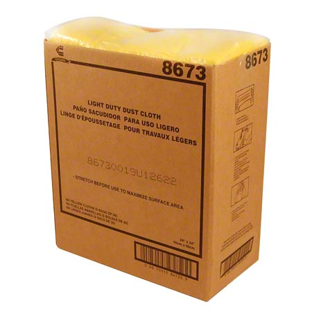 "CHI 8673 CHIX OIL TREATED DUST CLOTHS 22X24"" YELLOW"