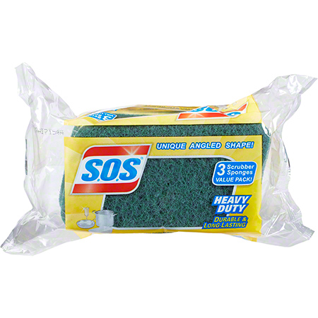 CLO 91029 SOS HEAVY DUTY SCRUBBER SPONGES 24/CS