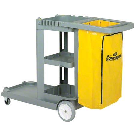 184 JANITOR MAID CART W/25GAL VINYL BAG YELLOW