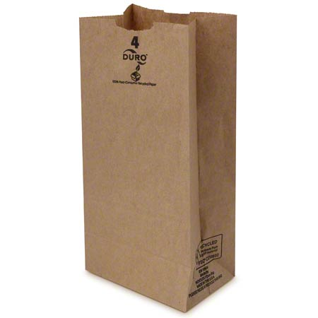 18404 4# KRAFT GROCERY BAG 30# 5X3-1/3X9-3/4 500/BALE
