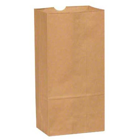 18408 #8 KRAFT DURO GROCERY BAG 35# 500/BALE
