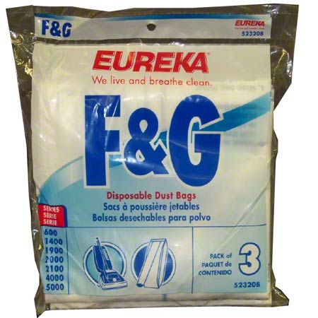 52320C-6 F&G EUREKA DISPOSABLE VACUUM BAGS 6