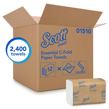 01510-00 SCOTT WHITE CFOLD TOWEL 2400/CS (12/200'S)