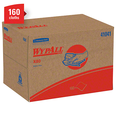 KCC 41041 BLUE WYPALL X80 WIPERS 12-1/2X16-4/5 160/BOX
