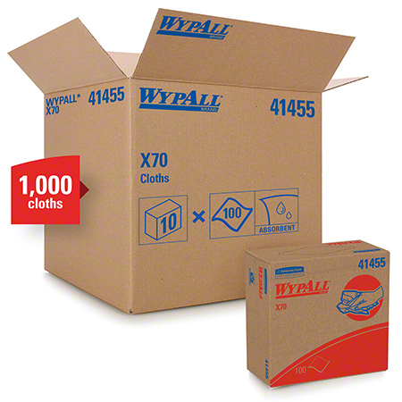 KCC 41455 WYPALL X70 WIPER POP UP BOX 100/BOX