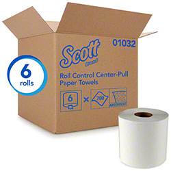 "Scott® Essential Roll Control Center Pull Towel - 8"" x 12"", White"