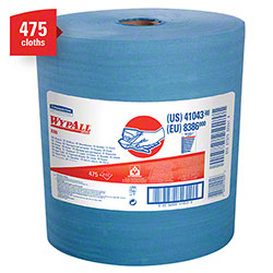 "WypAll® X80 Reusable Jumbo Roll Wiper - 12.4"" x 13.4"", Blue"
