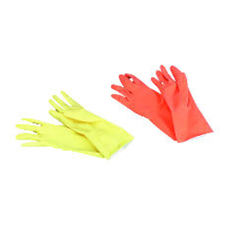 AMC 5993 GALAXY LARGE YELLOW LATEX GLOVES 1/PR FLK-LINED
