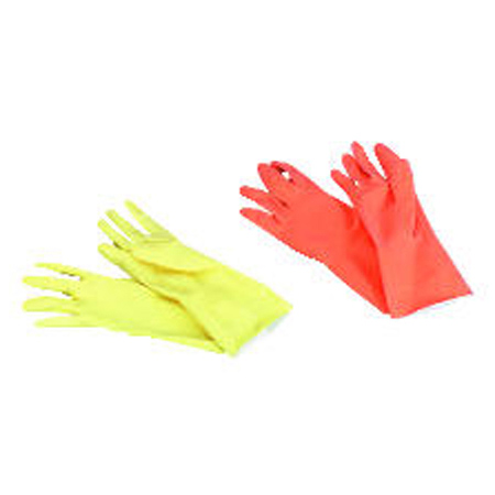 BWK 242M GALAXY MEDIUM LATEX GLOVE YELLOW FLK-LINED