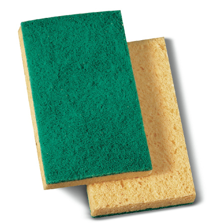 BWK 174 MEDIUM DUTY SCRUB SPONGE EA. 3-5/8X6-1/4 (GREEN