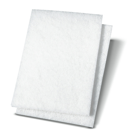 "BWK 198 6""X9"" FINE WHITE SCOURING PADS 20/BX"