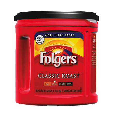 FOL 20421 FOLGERS COFFEE REGULAR 6/30.5-OZ CLASSIC