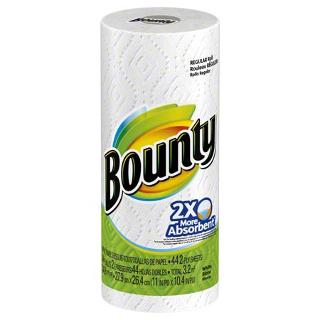 PGC 72630 BOUNTY TOWELS WHITE 30/CS (36 SHEETS)