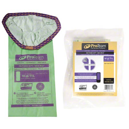 107313 DISPOSABLE VAC BAGS FOR SUPER COACH PRO 10 (10PK)