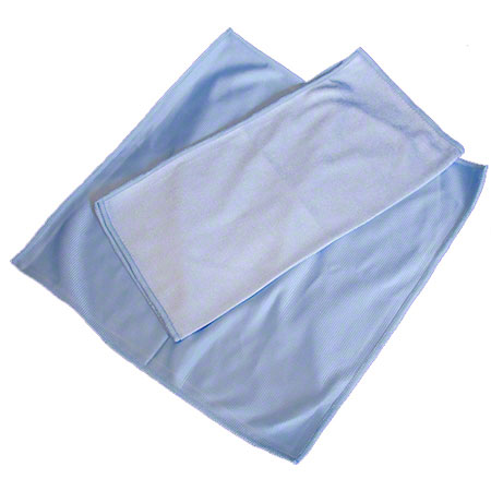 MGL16 BLUE GLASS MICROFIBER 16X16 CLEANING CLOTH EACH