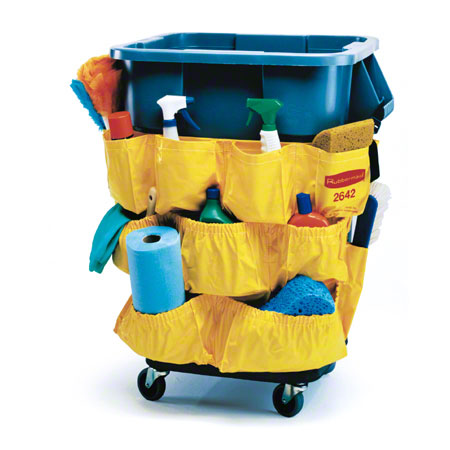 3175 YELLOW CADDY BAG FOR  32GAL & 44GAL ROUND BRUTES