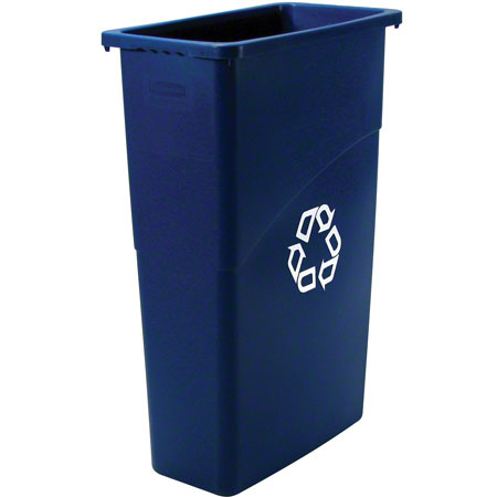 RCP 3540BRO BROWN SLIM JIM WASTEBASKET 20X11X30 23GAL