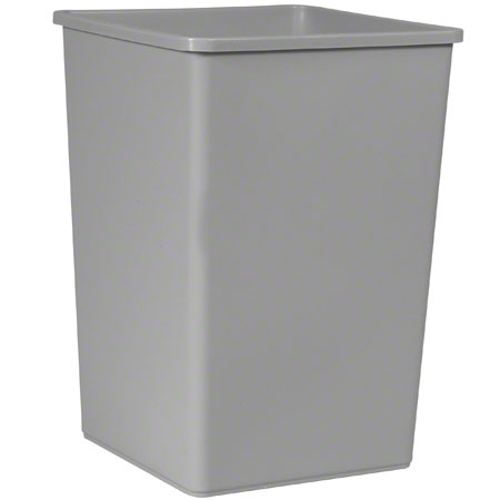 RCP 3958GRA TRASH CAN,SQUARE,GRAY, 35-GAL (USE
