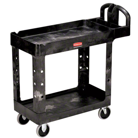 RCP 4500-88 BLA H.D. UTILITY CART 2-SHELF BLACK