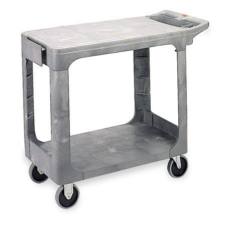 RCP 452500BK BLA FLAT SHELF UTILITY CART BLACK
