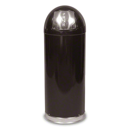 RCP R1536EGLBK MARSHAL STEEL TRASH CONTAINER 15GAL BLACK