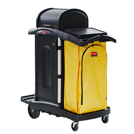 RCP 9T7500BK HIGH SECURITY LOCKING JANITOR CART BLACK