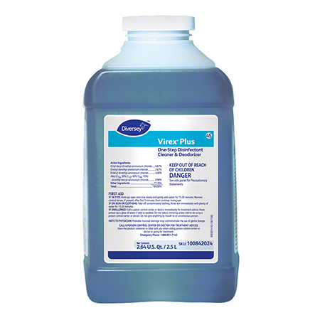 Diversey™ Virex® Plus One-Step Disinfectant Cleaner - 2.5 L J-Fill®